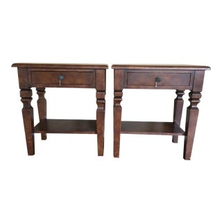 Dark Brown Traditional Nightstands - A Pair