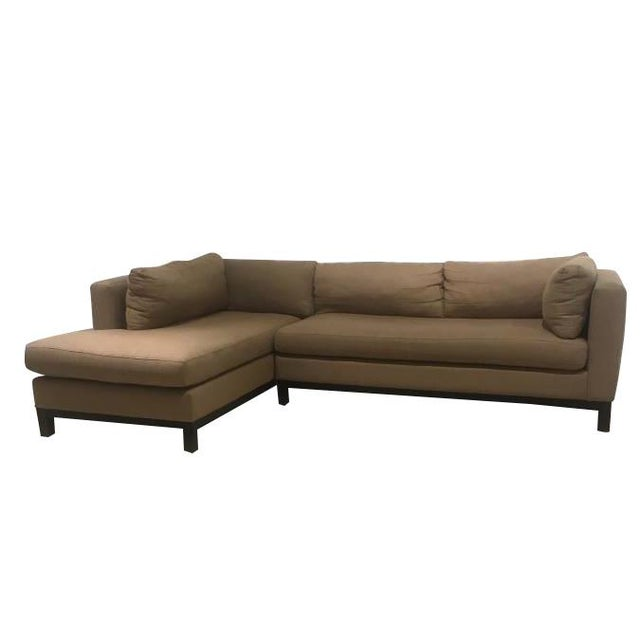 Contemporary Crate & Barrel Sectional Sofa For Sale - Image 3 of 11