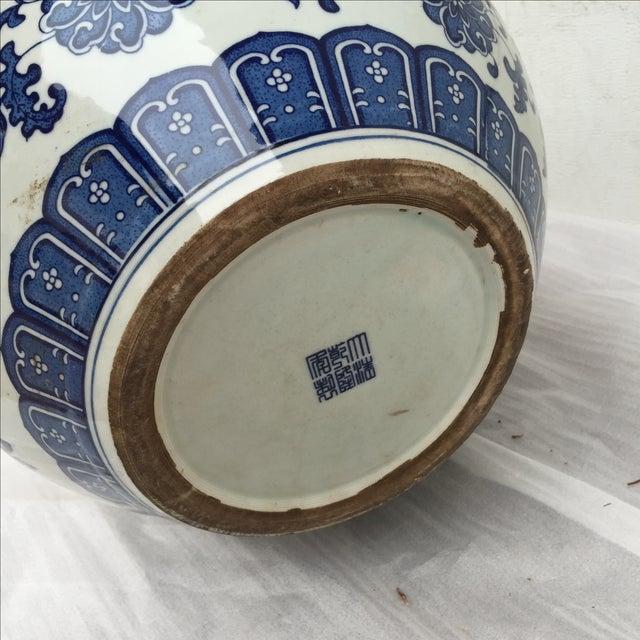 Chinese Chinoiserie Blue & White Dragon Vase - Image 3 of 7