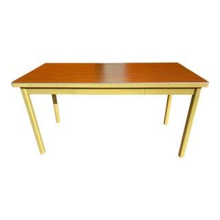 Vintage Haskell Manufacturing Metal Writing Desk For Sale