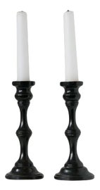 Image of Wood Candle Holders