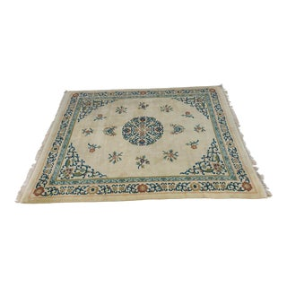 Semi-Antique Asian Style Wool/Cotton 114x96 For Sale
