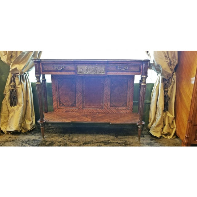 PRESENTING an ABSOLUTELY STUNNING 19th CENTURY French Louis XVI Style Breakfast Console Table/Buffet from Circa 1880. This...