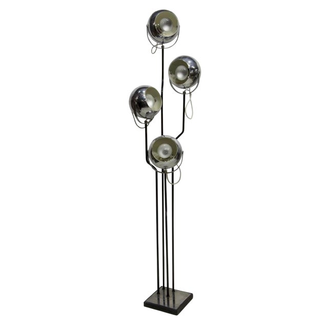 Vintage Italian Goffredo Reggiani Chrome Floor Lamp For Sale