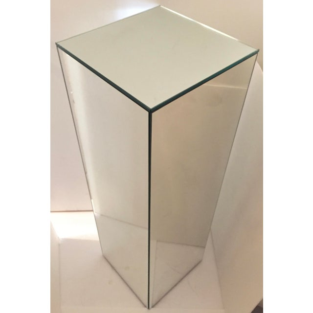 Contemporary Vintage Tall Mirrored Pedestal For Sale - Image 3 of 4