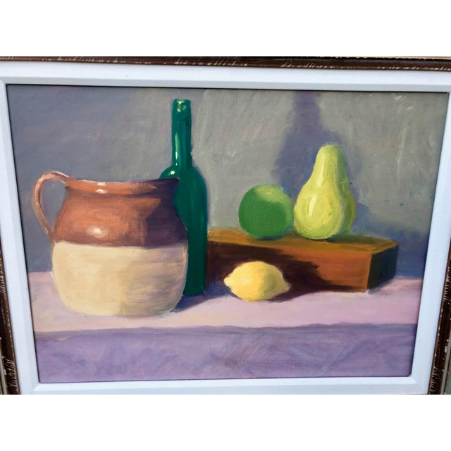 Transitional Contemporary Fruit Still Life Painting Signed For Sale - Image 3 of 9