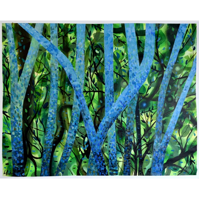 """Summertree Fantasia"" Original Acrylic Painting - Image 2 of 11"