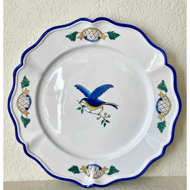 Excellent Pre-Owned Condition. Colorfully vibrant and fun-to-look-at décor accent, serving platter or tray, done in a...