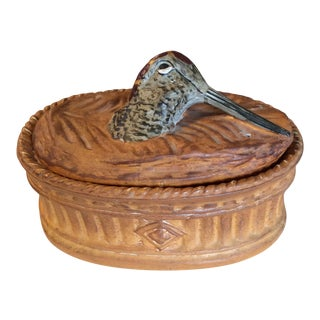 French Snipe Bird Game Tureen by Pillivuyt For Sale