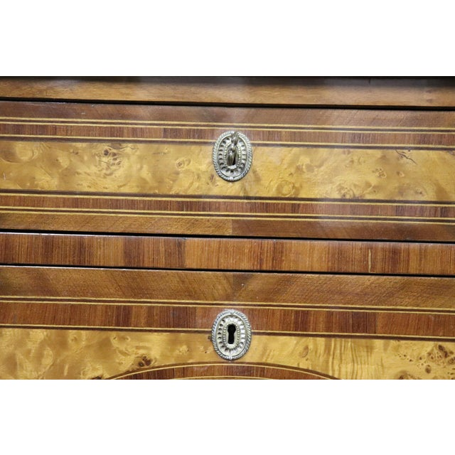 20th Century Italian Louis XVI Style Inlaid Wood Commode or Chest of Drawer For Sale - Image 12 of 13