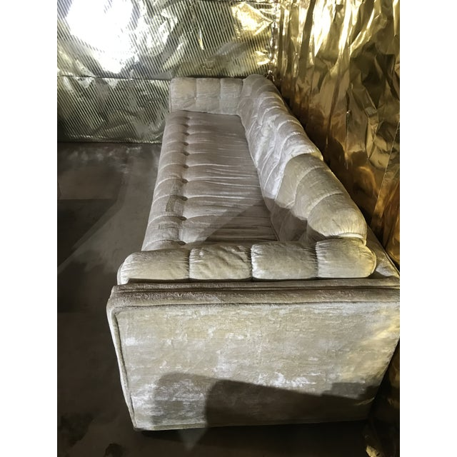 1970s Milo Baughman Frost White Sofa For Sale - Image 9 of 13