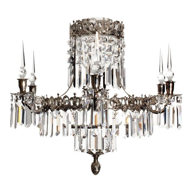 Our most romantically designed Tapper bathroom chandelier suits large and small bathrooms alike. Surface treatment nickel...