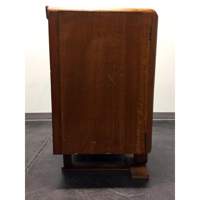 Harris Lebus Vintage Art Deco Tiger Oak Sideboard For Sale - Image 10 of 11