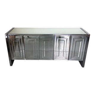 Vintage Ello Mirrored Credenza (Signed on the Back)