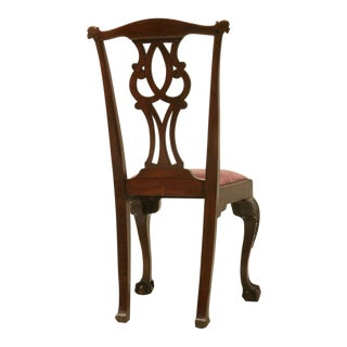 Eighteenth Century Hand-Carved Irish Chippendale Side/Desk Chair For Sale