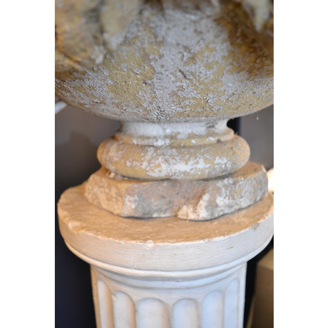 Swag Decorated Garden Urn For Sale - Image 4 of 5