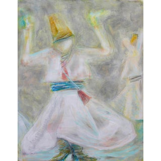 """""""Little Dervish"""" by Trixie Pitts Abstract Figure Oil Painting For Sale"""