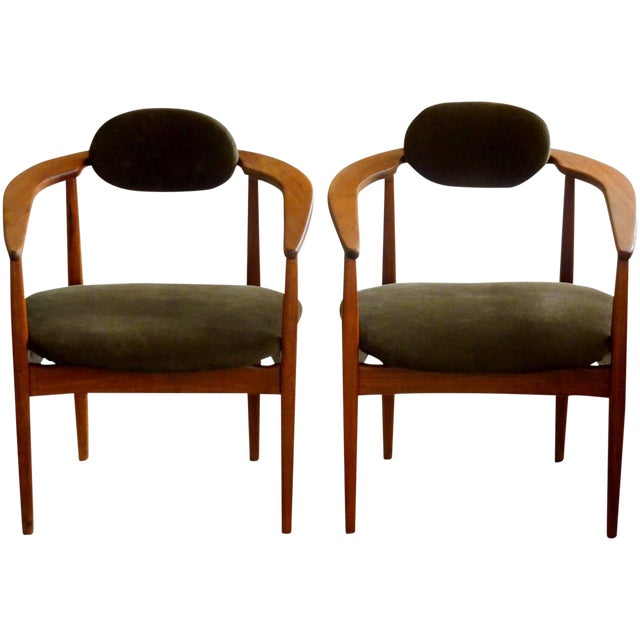 Adrian Pearsall Armchairs - A Pair For Sale