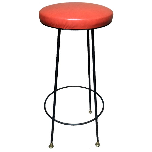 Orange Retro Stiletto Bar Stools - Set of 4 - Image 1 of 10