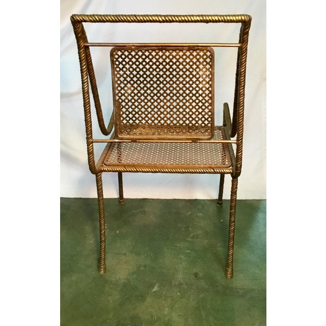Gilt Metal Chairs - Set of 6 For Sale - Image 4 of 13