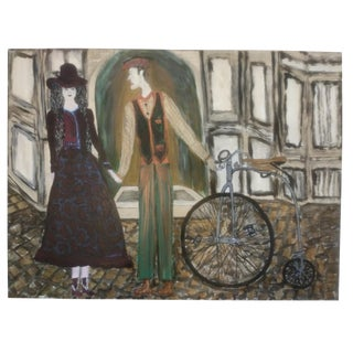 Mid-Century Romance Painting