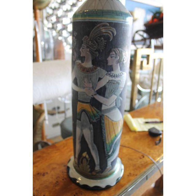 Marian Zawadsky for Tilgman Keramik Vintage Sweden Table Lamp For Sale - Image 9 of 11