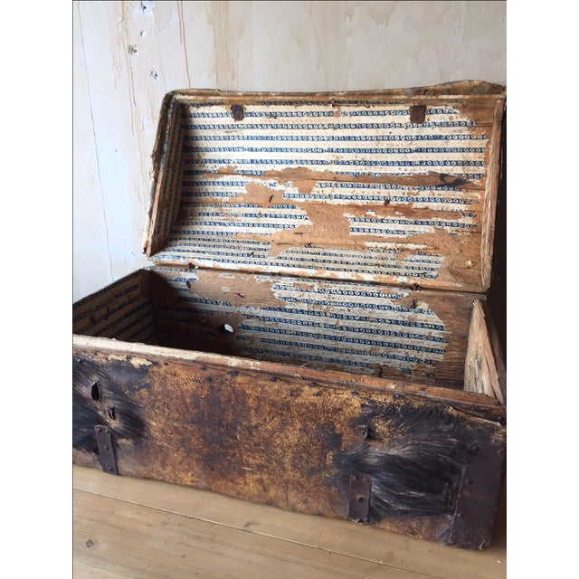 18th Century Antique Italian Trunk For Sale In Kansas City - Image 6 of 7