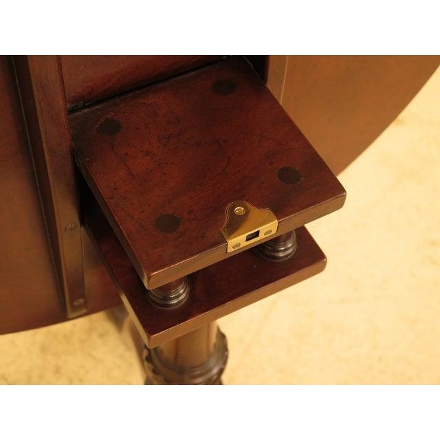 Brown Kittinger Historic Newport Hn-6 Mahogany Tilt Top Table For Sale - Image 8 of 11