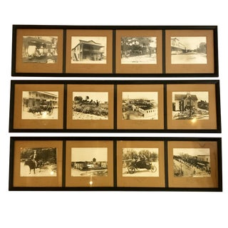 Set of 3 Framed 1900's Pictures For Sale
