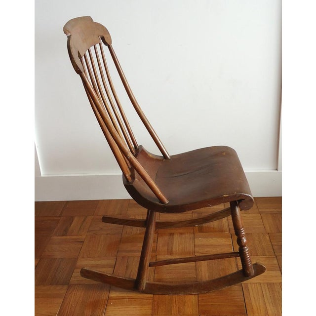 Antique Primitive Rocking Chair For Sale - Image 6 of 8