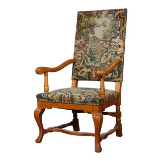 Danish Arm Chair in the Style of Louis XIV For Sale