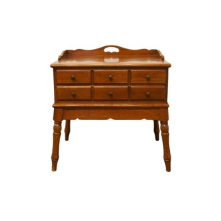 20th Century Traditional Statton Americana Trutype Maple Nightstand For Sale