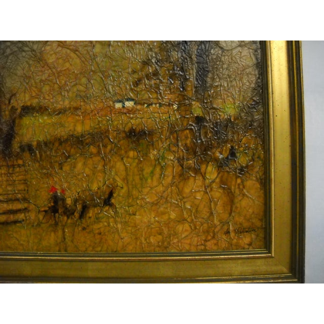 Wood Country Lane Trotter Mixed-Media For Sale - Image 7 of 8