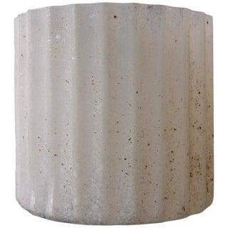Signed Seguso Scavo Corroso Ribbed Vase or Vessel For Sale