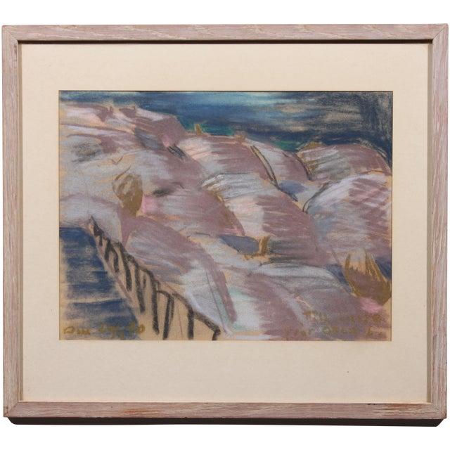 """""""Stairway to Lavender"""" Vintage Pastel Drawing - Image 1 of 3"""