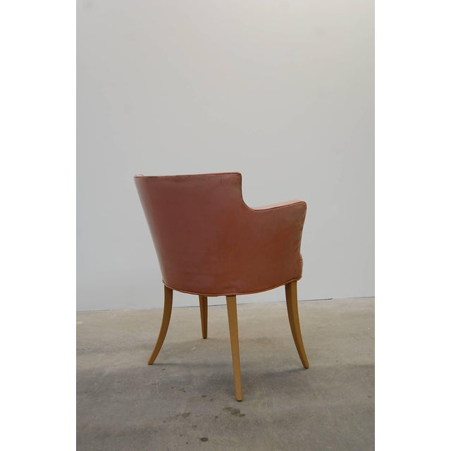Set of Four Early Dunbar Dining Chairs in Leather For Sale - Image 5 of 7