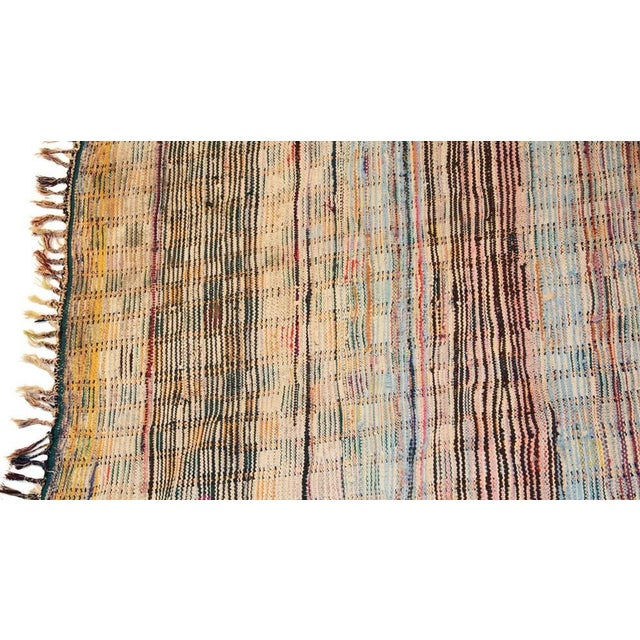 "Berber Tribes of Morocco Vintage Boucherouite Carpet -10'2"" X 5'6"" For Sale - Image 4 of 4"