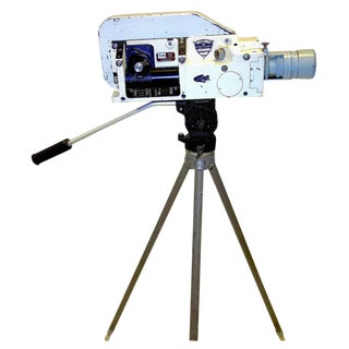 Military Analysis Cinema Camera. Circa Mid 20th Century. Display As Sculpture. On Vintage Tripod. For Sale