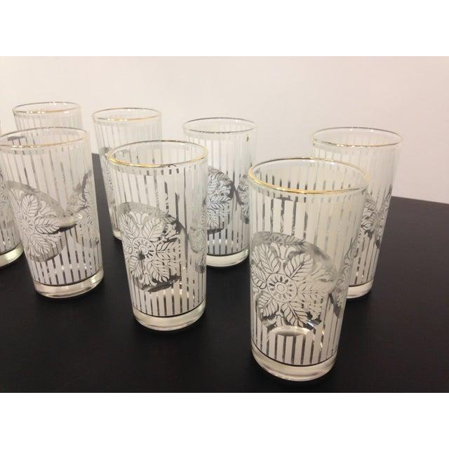 Gold Rimmed Snowflake Highball Glasses - Set of 8 - Image 4 of 4