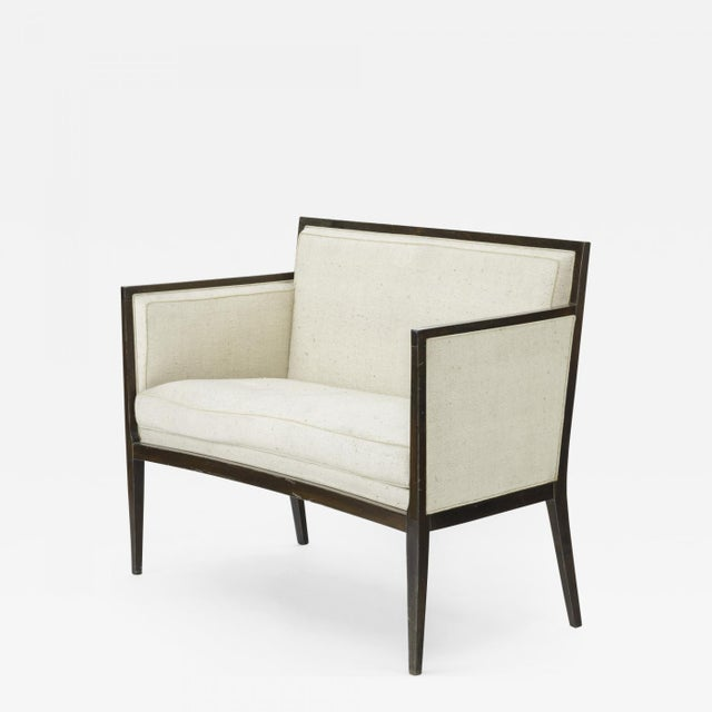 Jean Michel Frank Style Refined Classic 2 Seats Settee For Sale - Image 6 of 6