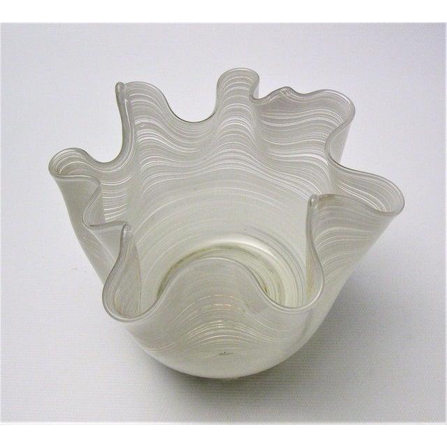 Vintage Aureliano Toso Murano Venetian Handkerchief Glass Vase-1950s Italian Italy Mid Century Modern MCM Millennial For Sale - Image 9 of 11