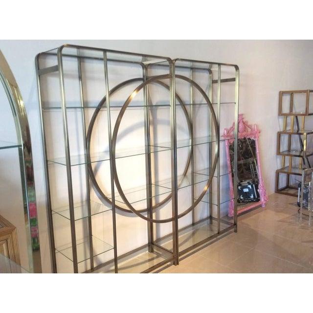 Design Institute of America Milo Baughman Vintage Brass Etagere Shelves - A Pair - Image 4 of 11