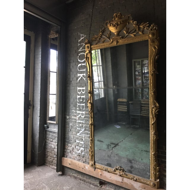 French 18th Century Louis XVI Mirror in Exceptional Size For Sale - Image 3 of 12
