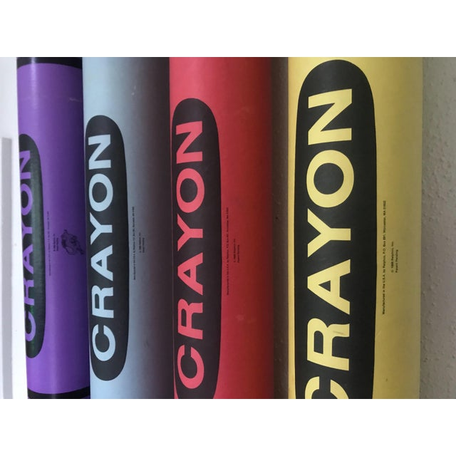 Delightful set of four oversized giant crayon banks from 1988. A whimsical pop art addition to your decor, and an instant...