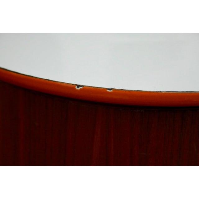 Orange Servex Teak & Enameled Steel Serving Pot/Bowl - 3 Pieces For Sale - Image 8 of 9