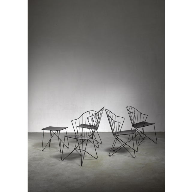 1950s Mannhardt-Stahlmöbel Set of Four Chairs and a Table, Germany, 1950s For Sale - Image 5 of 6