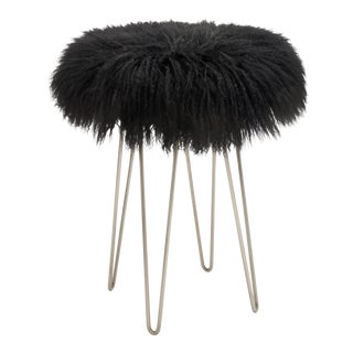 Black Curly Hairpin Counter Stool For Sale