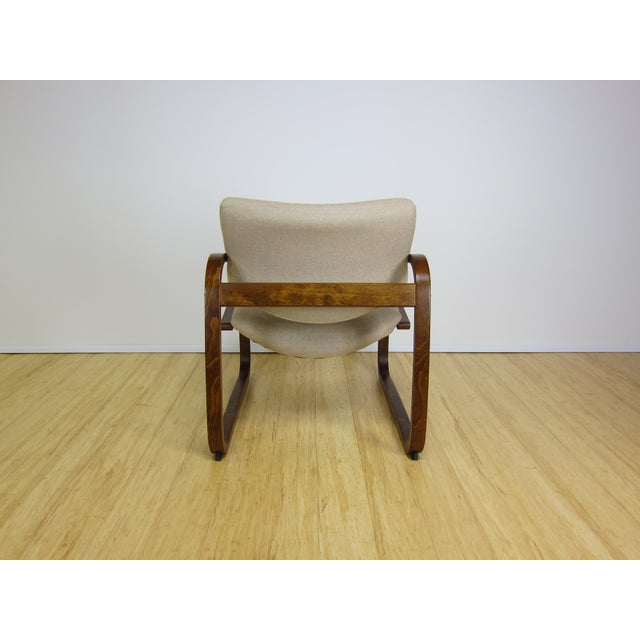 1970s Danish Modern Oddvin Rykken Cantilever Bentwood Lounge Chair For Sale - Image 9 of 11
