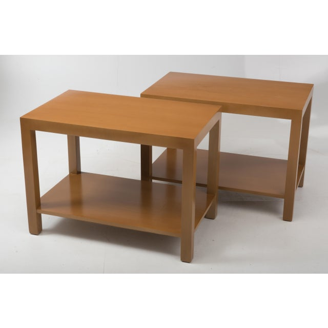 Mid-Century Modern T.H. Robsjohn Gibbings Widdicomb Parsons End Tables - a Pair 1949 For Sale - Image 3 of 13