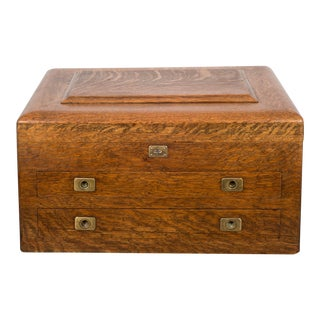 19th CenturyOak and Brass Silverware Chest C.1890 For Sale